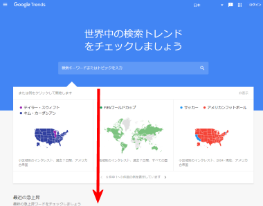 Googleトレンド(グーグルトレンド)トップページ