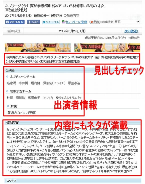 テレビ系未来予測記事~Yahoo!テレビ番組表でのネタ元・キーワード選び2