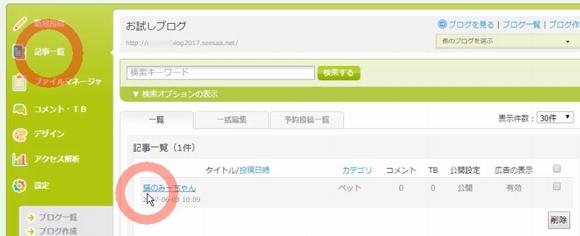 Seesaaブログ(シーサーブログ)無料ブログ新規登録・記事投稿方法14