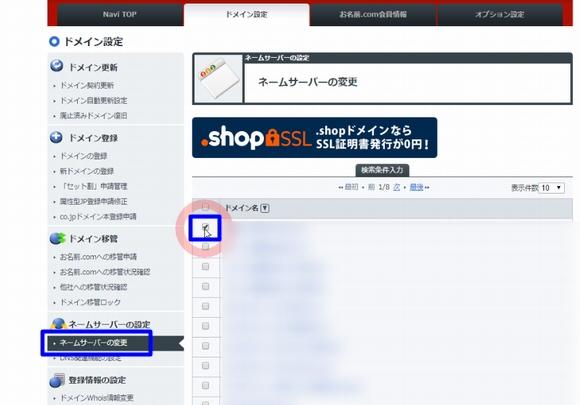 お名前ドットコムでドメインをコアサーバー(CORESERVER.JP)で使うネームサーバー設定5