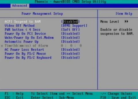 windows10が勝手に起動する場合、BIOS、Advancedの、Power関連をDisabledにする