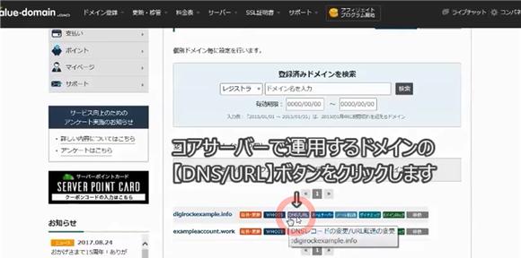 バリュードメイン~ネームサーバーとDNSの設定方法(コアサーバー)12