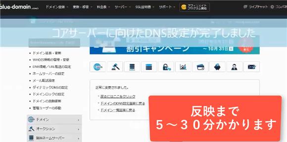 バリュードメイン~ネームサーバーとDNSの設定方法(コアサーバー)18