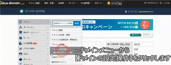バリュードメイン~ネームサーバーとDNSの設定方法(コアサーバー)20