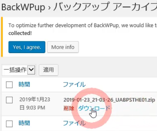 BackWPupの使い方と設定~WordPressバックアップ方法と中身8
