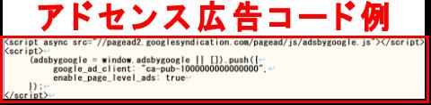 アドセンス(adosense)広告コードの一例