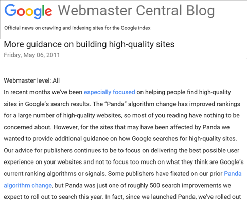 (英文)Googleオフィシャルブログ2011年5月06日の記事